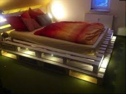 luces cama de palets - Camas Con Palets