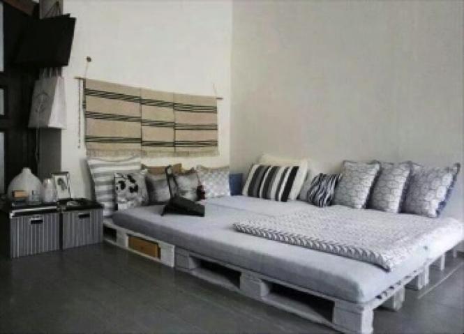 camas hechas con palets