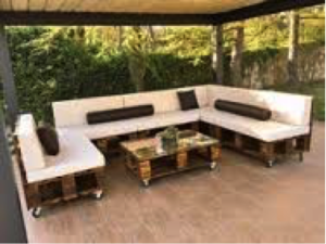 sofa palet terraza chillout